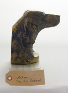 Dog bust bookend