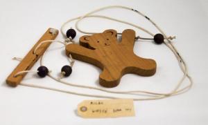 Wooden bear toy