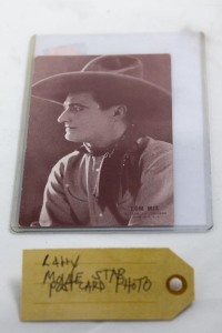 Movie star postcard photo