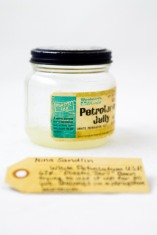 """White Petroleum U.S.P. 67 cents """"Plastic Jar!"""" Been trying to use it up for 30 years."""