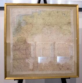 Parachuting Artist Silk Map