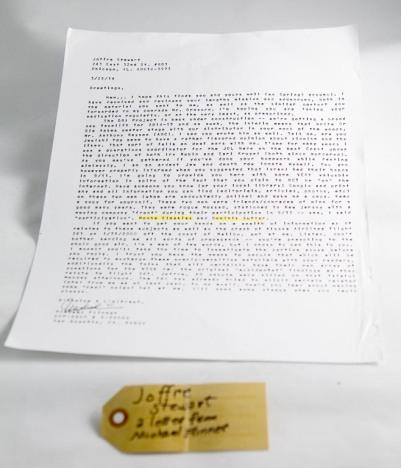Letter from Michael Flinner
