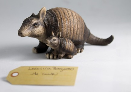 Stanley and Poe, Lawn Armadillos With Grass