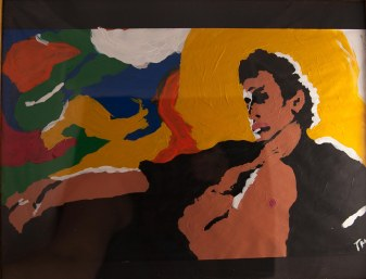 Jeff Goldblum painting